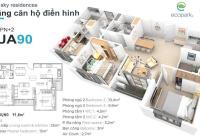 Bán căn hộ Sky 90m2 tầng trung, view vịnh hồ, ban công Đông Nam. Giá 3.08 tỷ, liên hệ 0969695710