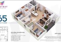 Cần bán căn hộ 65m 2pn2wc full nội thất gắn tường tòa Westbay giá 1,690 bao phí !