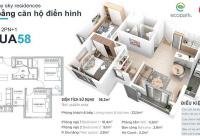 Bán căn hộ 58m Aquabay. tầng đẹp ban công rộng. Giá chỉ : 1460tr bao phí.LH 0388494643