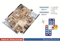 Bán gấp căn 3PN 99m2 cc Goldmark City, tầng trung, sổ đỏ chính chủ, giá chỉ 2,8 tỷ