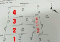 CẦN BÁN 4 LÔ Thanh xá, gần viện nhi, GIÁ: 720 triệu Diện tích 63-98m2 cho nhà đầu tư  LH0988797665