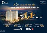 Còn 30 suất nội bộ chỉ 1,1 tỷ sở hữu ngay căn hộ 2PN mặt tiền trung tâm TP Thuận An, chiết khấu 12%