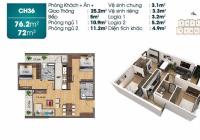 Tôi cần bán căn hộ 76m dự án TSG Lotus Sài Đồng, tầng trung đẹp