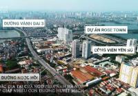 Rose Town chỉ từ 1,8 tỷ sở hữu ngay căn hộ 2PN- Nhận nhà ở ngay, chiết khấu tới 5%, HTLS 0%