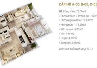 Bán căn 2 ngủ 80m toà B Imperia Sky Garden, không nội thất, tầng trung, giá 3,25 tỷ. Lh 0987662362