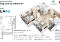 Bán Gấp căn hộ Aquabay 1PN-1VS 46m2, nội thất cơ bản giá 1 tỷ