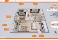 76m2 dự án Le Grand Jardin tầng trung ban công ĐN giá bán 2,420 tỷ