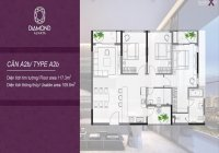Chuyển nhượng căn hộ Diamond Alnata 117m2 giá đầu tư