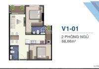 Siêu rẻ với giá mềm Q7 Saigon Riverside 53.2m2, ban công hướng Tây bao hết thuế phí