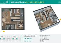 Chính chủ bán căn hộ 12 với 2 phòng ngủ 52m2 đẹp nhất tại Phương Đông Green Park