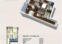 Thiết kế căn hộ 71m2