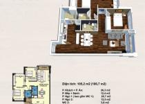 Thiết kế căn hộ 105.2m2