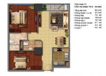 Thiết kế căn hộ T1-08, T1-09, T1-10, T1-11
