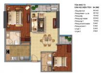 Thiết kế căn hộ T2-04, T2-05, T12B, T2-15