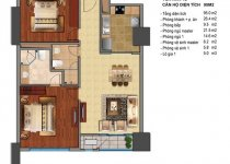 Thiết kế căn hộ T2-08, T2-09, T2-10, T2-11