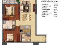 Thiết kế căn hộ T2-02, T2-03, T2-16, T2-17