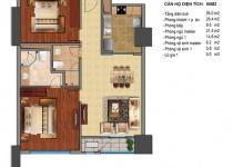 Thiết kế căn hộ T3-08, T3-09, T3-10, T3-11