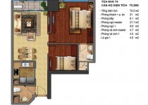 Thiết kế căn hộ T4-04, T4-05, T4-12B, T4-15