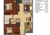 Thiết kế căn hộ T4-08, T4-09, T4-10, T4-11