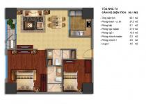 Thiết kế căn hộ T4-01, T4-18