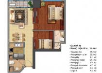 Thiết kế căn hộ T5-04, T5-05, T5-12, T5-12A