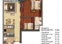 Thiết kế căn hộ T6-04, T6-05, T6-12, T6-12A