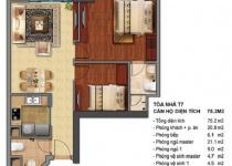 Thiết kế căn hộ T7-04, T7-05, T7-125, T7-12A
