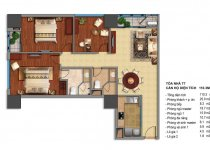 Thiết kế căn hộ T7-02, T7-03, T7-12B, T7-15