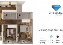 Thiết kế căn hộ 68.78 m2