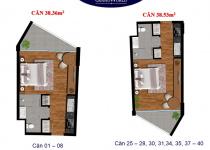 Thiết kế căn hộ 38.36 m2