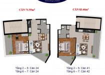 Thiết kế căn hộ 71.55 m2