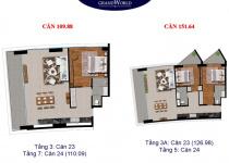 Thiết kế căn hộ 151.64 m2