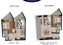 Thiết kế căn hộ 61.14 m2