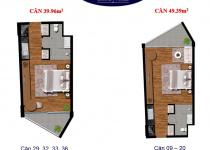 Thiết kế căn hộ 39.96 m2