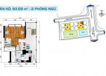 Thiết kế căn hộ 93.58 m2