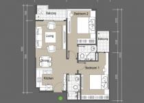 Thiết kế căn hộ A2,A6,A7,A12