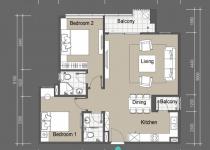 Thiết kế căn hộ A1,A2,B1,B2