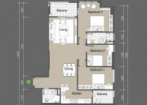 Thiết kế căn hộ A3,A6,B3,B6