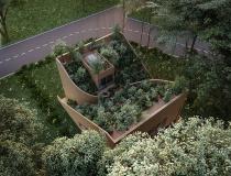 Ngôi nhà độc đáo với cây xanh phủ kín mái