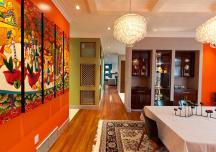 Phòng ăn màu cam rực rỡ: xu hướng thiết kế hè 2017