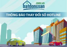 Batdongsan.com.vn thông báo thay đầu số Tổng đài chăm sóc khách hàng