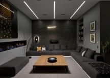 Những phòng khách màu xám giản dị mà vẫn thu hút