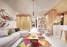 Sử dụng màu sắc làm điểm nhấn cho căn hộ hiện đại
