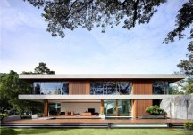 Biệt thự đẹp ấn tượng nhờ các mảng gỗ trang trí