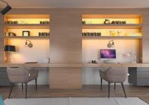 Thiết kế phòng làm việc đôi ấn tượng tại nhà