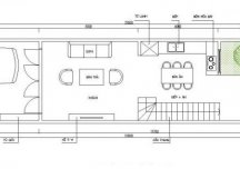 Tư vấn thiết kế nhà ống hẹp dài nhiều ánh sáng, DT 4x21m