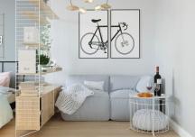 Căn hộ 33 m2 vẫn đảm bảo không gian sống thoải mái, tiện nghi