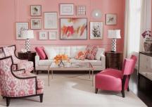 Những mẫu phòng khách màu hồng đốn tim bạn ngay từ cái nhìn đầu tiên