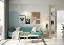 Căn hộ tươi mát với nội thất màu xanh ngọc