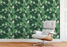Giấy dán tường in hình thực vật - xu hướng trang trí nhà đang lên ngôi